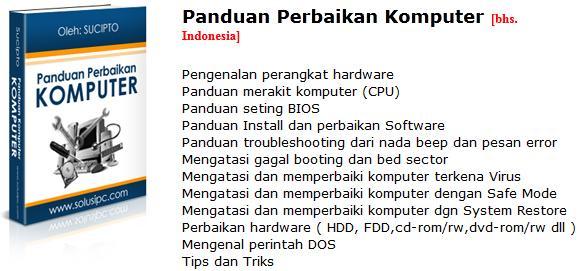 Download e-Book Panduan Perbaikan Komputer