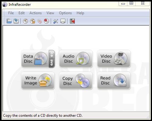 Aplikasi Infra Recorder